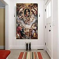 ピーターポールルーベンス《マドンナデッラバリチェッラ》キャンバス油絵アートワークポスター写真壁の装飾家の室内装飾キャンバスプリント30x50cmフレームレス
