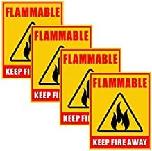 FLAMMABLE 3 SIGN HA085 SAFETY STICKER RIGID INDOOR OUTDOOR Buy 3 get 1 Free