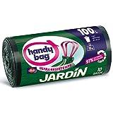 Handy Bag Bolsas De Basura 0L Jardín, 97% Reciclado, Extra Resistentes, Sacos, Negro, 100 L, 10 Unidades