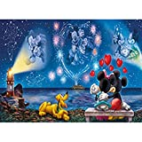 5D Diamond Painting Full Drill, Mouse Love Cartoon DIY Diamond Painting by Number Kits, Rhinestone Crystal Drawing Gift for Adults Kids, 16''x12'' Embroidery Dotz Kit Home Wall Décor