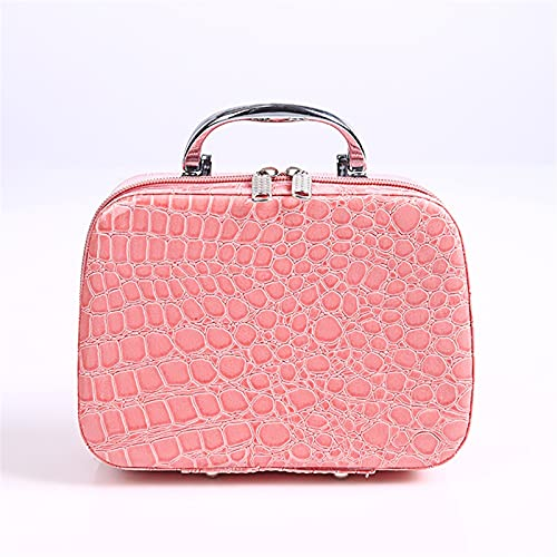 ZYstyle Sac de Style cosmétique Patron de Pierre Case cosmétique avec Miroir Dames Main Feuille d'alimentation carrée Sacs cosmétique carré (Color : Multi-Colored)