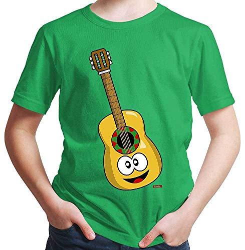 HARIZ Jungen T-Shirt Gitarre Lachend Instrument Kind Witizg Plus Geschenkkarte Grün 164/14-15 Jahre