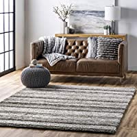 Nuloom 6 ft Round Classie Hand Tufted Shag Area Rug