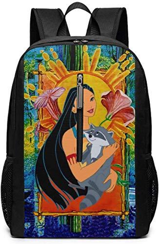 Anime Girl 17-Zoll-Schulrucksack College-Tasche Laptop-Rucksack mit großer Kapazität Rucksack (schwarz)