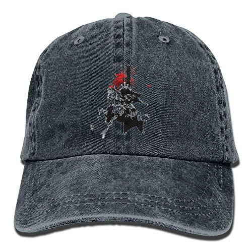 Hoswee Unisex Kappe/Baseballkappe, Samurai Riding A Horse Denim Hat Adjustable Mens Tactical Baseball Hats