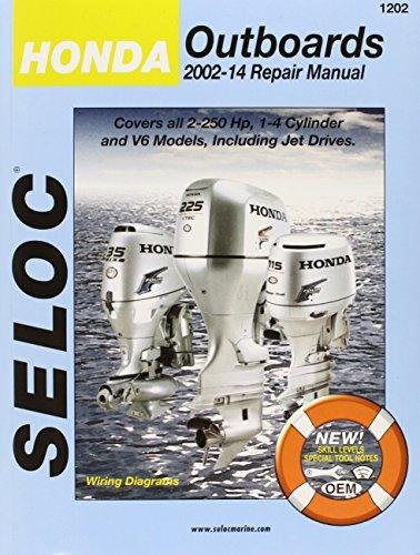 Seloc Honda Outboards 2002-2014 Repair Manual: 2.0-250 Hp, 1-4 Cylinder, V6 Models, Including Jet Drives (Seloc Marine M