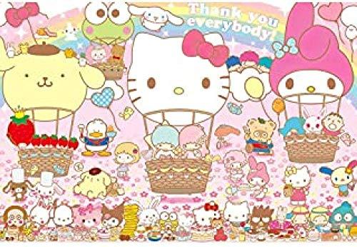 WOMGD® Anime Cartoon Puzzles 1000 Stück, Hello Kitty Holzpuzzle, Unterhaltung Spielzeug DIY Spiel Holz Kreatives Geschenk Home Decoration