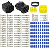 WMYCONGCONG 3 Kits 8 Pin Way Waterproof Electrical Connector Plug for Car Automotive (8 Pin)