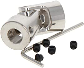Fielect 3Pcs Universal Steering Shaft Motor Shaft Coupling Connector Diameter 16mm×35mm Aperture 8mmx10mm