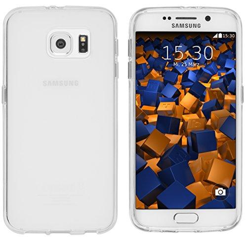 mumbi Hülle kompatibel mit Samsung Galaxy S6 / S6 Duos Handy Case Handyhülle, transparent Weiss