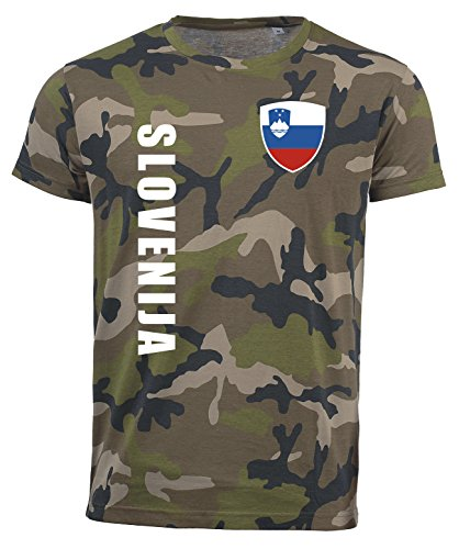 aprom Slowenien T-Shirt Camouflage Trikot Look Army Sp/A (L)