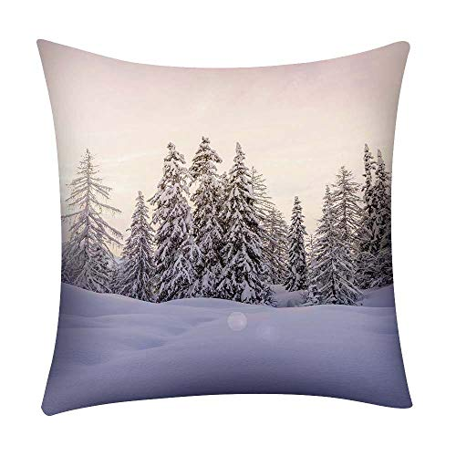 HOUMENGO Merry Christmas Throw Pillowcase Decorative Cushion Cases Let's Stay Home Pillow Covers Set Cushion Cases Pillowcases for Sofa Bedroom