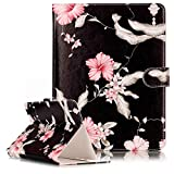 Nook HD+ 9-inch Universal Size Case,Marble PU Leather Unique Design Flip Case Kickstand Universal Tablet Protective Cover for Nook HD+ BNTV600-GRY 9-inch Tablet