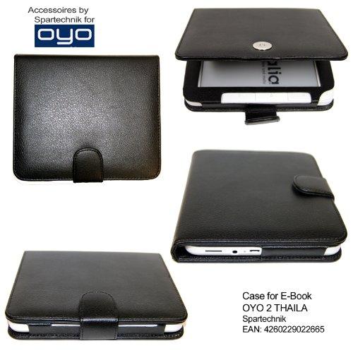 Spartechnik Tasche für OYO 2 WLAN - bestes Case Ledertasche* für Thalia OYO2 E-Book Reader von Thalia Buch BOL & Medion Life P6212 MD 98900 - Elektronisches Buch - schwarz