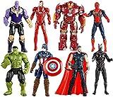ZfgG Fting Marvel Modelo de Juguete Set - Spider-Man/Hulk/Thanos/Iron Man Capitán América / / Anti-Hulk // Panther/Raytheon actionfigure - Boy Regalo de cumpleaños Conjunto de Juguete
