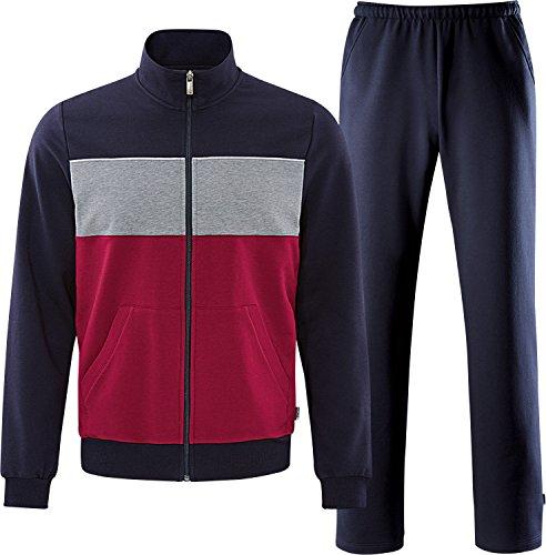 Schneider Sportswear Herren BLAIRM-Anzug Trainingsanzug, Redwine/dunkelblau, 28