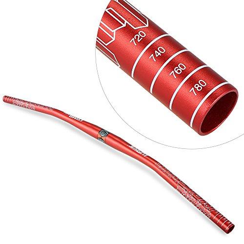 Lixada - Manubrio in Lega di Alluminio anodizzata, per MTB, Piatto, 780mm, Rosso