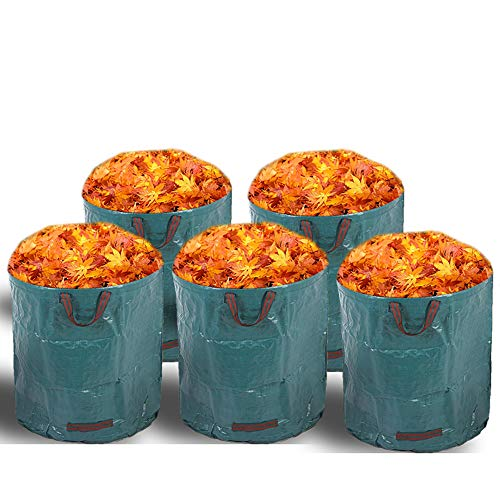 Alaskaprint 5X Gartenabfallsack Selbstaufstellend 272L 272 Liter Gartentasche Gartensack Abfallsack Laubsack Gartenabfälle Gartenkorb verschließbar 380g Sack