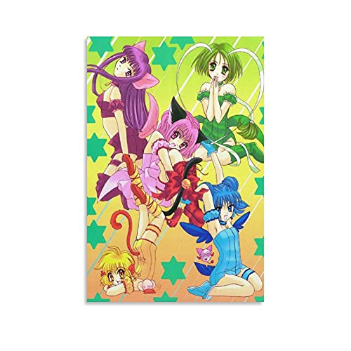 Tokyo Mew Mew Anime Art Poster Style E8 Canvas Poster Bedroom Decor Sports Landscape Office Room Decor Gift 16×24inch(40×60cm)