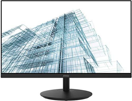 MSI PRO MP242DE 60 cm (23,8 Zoll) Office LED Monitor (Full-HD, 75Hz, IPS-Panel Technologie, Rahmenloses Design, HDMI, schwarz)