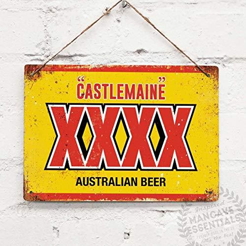 SIGNCHAT Castlemaine XXXX Australische bier Vintage Tin teken metalen Decor metalen bord muur metalen Tin teken 8X12 inch