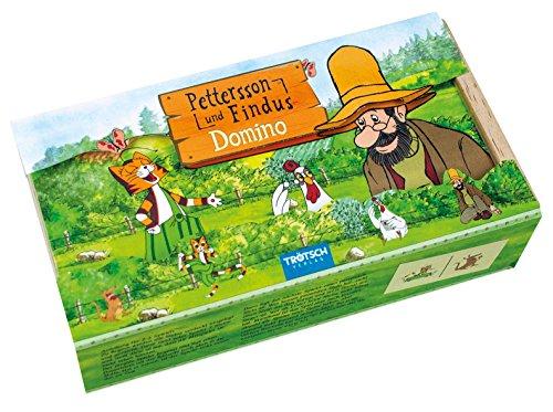 Pettersson & Findus Holz-Domino: in praktischer Holzbox mit Schieber (Holzspielzeug)