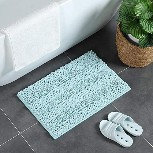 GUSTAR Alfombra Absorbente de Agua Alfombra de baño Chenilla para Pasillo para Dormitorio para Cocina(#10Light Blue)