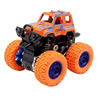 1PCSミニ四駆慣性回転可能な車のおもちゃ子供の摩擦パワーオフロード車のモデルカーのおもちゃ慣性のために子供の誕生日ギフト (色 : 4)