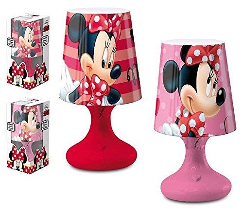 Lampe de Chevet Disney Minnie Boule Led Petite veilleuse nuit décoration chambre enfant 18 cm