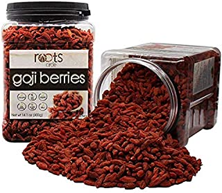 Organic Dried Goji Berries Bulk | OU Kosher | Natural, Vegan, Raw, Non-GMO, Superfood | Excellent Source of Antioxidants - Achieve Radiant Skin & a Healthy Glow | Gluten Free, Nut Free By Roots Circle