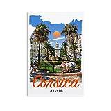 Korsika Frankreich Retro Vintage Reise Poster Leinwand
