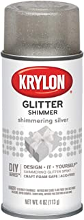Krylon I00402 Glitter Aerosol Spray, Shimmering Silver