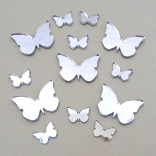 Super Cool Creations 10 Butterfly Mirrors - 2 Sizes – 6cm, 4