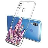 Oihxse Mode Motif de Diamant Case Compatible pour Samsung Galaxy A3 2017/A320 Coque Silicone Ultra...