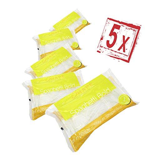 5 x Shirataki Konjak Nudeln - Spaghetti - Shape Noodles - 390 gr.