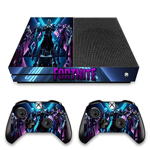 VINILOL vinilo para XBOX ONE S pegatina con diseño de Fortnite cubierta skin para consola y 2 mandos.