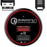 BC Master BCM-CQ01 Quick Charge 3.0 USB Cargador de Coche 34.5W con Cable Micro USB de 1m ,...