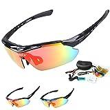 Gafas de ciclismo INBIKE a prueba de rayos UV, polarizadas con 5 lentes remplazables, con 3 colores de marco, negro