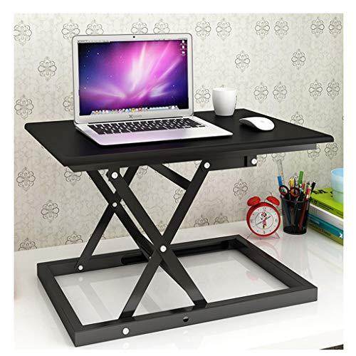 TOYS Sit-Stand Workstation Sitz-Steh-Schreibtisch Höhenverstellbarer Klappbar Schreibtisch-Aufsatz Ergonomischer Sitz-Steh-Schreibtisch Aufsatz Für Bürotisch Computertisc