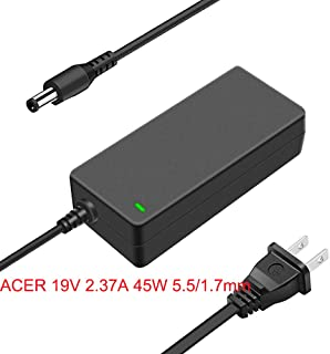 Surperadapter 19V 2.37A 45W Laptop Ac Adapter Charger for Acer Aspire E5-421 E5-432 E5-471P E5-511P E5-521 E5-571P E5-573 ES1-522 ES1-523 F5-571 R3-131T V3-111P V5-121 black adapter