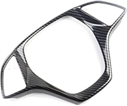 Justautotrim Carbon Fiber Look Steering Wheel Cover molding Cover Trims Accessories for 2014 2015 2016 2017 2018 Chevrolet Corvette C7 (Big one)
