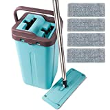 LETTON Microfiber Squeeze Mop and Bucket System for Home Bathroom...