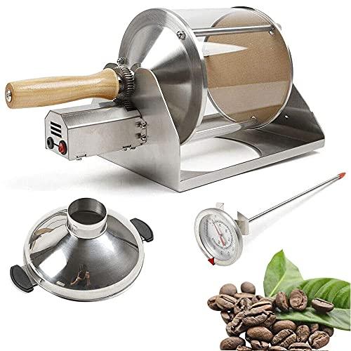 ZRZJBX Tostador De Café Quemador De Gas 400g MáQuina Tostadora De Café Fabricante De Granos De Café para CafeteríA Casera