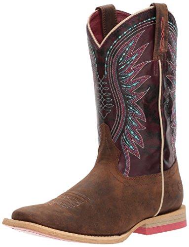 Kids' Vaquera Western Boot, Weathered Brown/Sunset Purple, 3.5 M US Big Kid