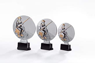 50 mm//gold Pokal Emblem Angeln 3D