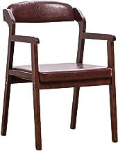 Dining Chair Piękne, proste krzesło biurkowe, kreatywne oparcie, krzesło rekreacyjne, dom dorosły mocny (kolor: Brązowy - B)