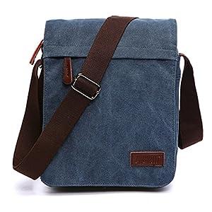 Outreo Bolsos Bandolera Vintage Messenger Bag Maletines para Hombre Bolso Bolsas de Viaje Tela para Laptop Colegio Bolso…