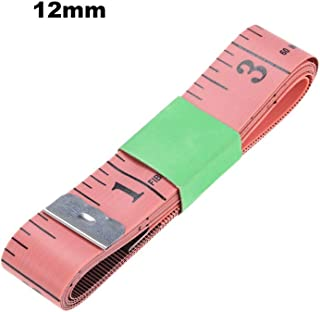 Goolsky 1500mm Color Soft Inch Tape Measure Sewing Tapes Measuring Tape Pink&12mm