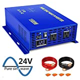 XYZ INVT 1500W 24V DC to 110V 120V AC 60HZ Pure Sine Wave Power...