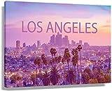 JRLDMD Laminas para Cuadros Los Ángeles California línea Palmeras Horizonte de la Ciudad estética Hermosa Foto impresión Grabado Poster Pared Arte impresión 40x60cm x1 Sin Marco